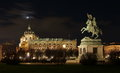 Heldenplatz &x28;Heroes Square&x29; And Museum Of Natural History, At Night - Landmark Attraction In Vienna, Austria Stock Photo - 51891900