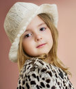 Lovely Child Girl Portrait. Young Model Posing.Fashion Kid Close Royalty Free Stock Photo - 51894425