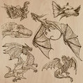 Dragons. An Hand Drawn Vectors In One Pack. Stock Images - 51896114