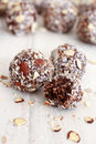 Chocolate Coconut Balls Royalty Free Stock Images - 51902259