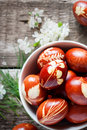Eco Decor. Easter Eggs Decorated With Natural Grass Stock Images - 51916624