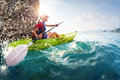 Woman With The Kayak Stock Photography - 51917322