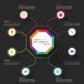 Modern Business Infographics Octagon. Vector Illustration Royalty Free Stock Images - 51924869