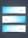 Beautiful Blue Color Header Designs. Stock Photography - 51934322