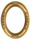 Oval Gold Picture Frame Royalty Free Stock Photo - 51953185