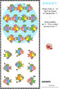 Colorful Fish Visual Logic Puzzle Royalty Free Stock Photos - 51961388