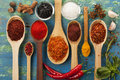 Powder Spices On Spoons Stock Photos - 51973913