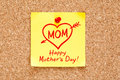 Happy Mothers Day Concept Sticky Note Stock Images - 51989264