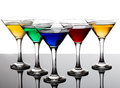 Color Cocktails In Martini Glasses Stock Image - 51998131