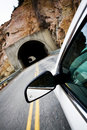 Car Approaching Tunnel Stock Photo - 5202080