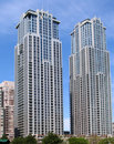 Modern Apartment Building Twin Towers Stock Photos - 5208423