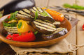 Grilled Vegetables   On Wooden   Plate With  Herbs. Stock Photos - 52005723