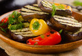 Grilled Healthy Vegetables  On A Wooden  Plate. Stock Image - 52006601
