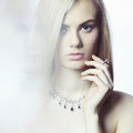 Beautiful Blonde With Jewelry Royalty Free Stock Image - 52022906
