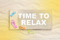 Time To Relax: Summer Holidays On The Beach With Text For Promot Royalty Free Stock Image - 52026516