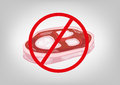 No Meat Symbol Stock Images - 52027794