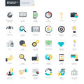 Flat Design Business And Banking Icons For Graphic And Web Designers Stock Image - 52028211