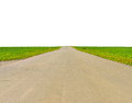 Old Road, Roadsides And Green Grass Field Royalty Free Stock Photography - 52047417