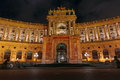 Hofburg Palace Entrance, At Night - Attraction In Vienna, Austria Royalty Free Stock Photo - 52054125