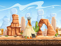 Tileable Horizontal Background Wild West. Set2 Stock Photo - 52057200