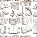 Books. Pack Of An Hand Drawn Illustrations, Seamless Stock Images - 52062284