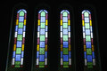 Vertical Stained Glass Windows Of The Cathedral Stock Photo - 52066820