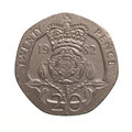 Twenty Pence Coin Stock Photo - 52069770