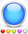 Glossy Colorful Circles With Metallic Frame Royalty Free Stock Photography - 52071257