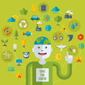 Creative Concept Of Ecology Science. Vector Stock Image - 52089611