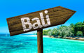 Bali Sign On The Beach Stock Photography - 52091872