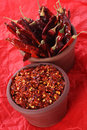 Hot Red Chilli Chillies And Crushed Pepper Royalty Free Stock Image - 5213116