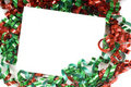 Christmas Bow Notecard Stock Images - 5217404