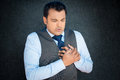 Clutching Test Tightly, Chest Pain Stock Photography - 52102352
