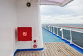 Exterior Of Luxury Cruise Ship With Fire Hose Reel Stock Photos - 52106033