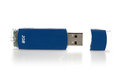Blue Pendrive On White Background Royalty Free Stock Image - 52107896