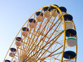Ferris Wheel Over Blue Sky Royalty Free Stock Photos - 52115038