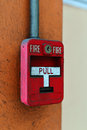 Switch Fire Alarm On Brick Wall Royalty Free Stock Photo - 52123095