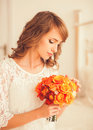 Portrait Of A Pretty Bride Royalty Free Stock Image - 52128426