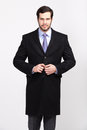 Handsome Office Business Man With Beard Dressed In Elegant Suit, Royalty Free Stock Photo - 52129285