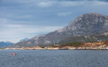 Coastal Norwegian Landscape With Mountains, Sea And Sky Stock Images - 52132344