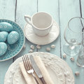 Easter Table Setting Stock Photos - 52136013