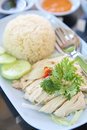 Steamed Chicken With Rice , Khao Mun Kai Stock Photography - 52141342