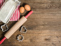 Flour, Rolling Pin, Eggs And Moulds Stock Photo - 52143940