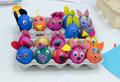 Many Painted Colorful Easter Eggs In Tray Royalty Free Stock Images - 52145309