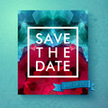 Bold Simple Save The Date Wedding Template Royalty Free Stock Image - 52157876