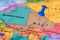 Map Of Mali With A Blue Pushpin Stuck Stock Images - 52168454