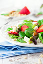 Spring Salad With Spinach Leaves Royalty Free Stock Photography - 52175317