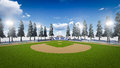 Baseball Stadium Royalty Free Stock Image - 52181186