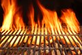 Flame Fire Empty Hot Barbecue Charcoal Grill With Glowing Coals Stock Images - 52181424
