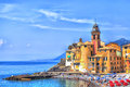 The Old Town Of The Seaport Camogli Royalty Free Stock Photography - 52195797